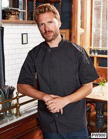 Essential Short Sleeve Chefs Jacket Premier Workwear PR900