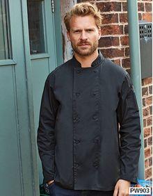 Chefs Long Sleeve Coolchecker® Jacket Premier Workwear PR903
