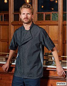 Chefs Zip-Close Short Sleeve Jacket Premier Workwear PR906