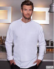 Long-Sleeve Throw-Over Chef Shirt Basic Karlowsky BJM 4