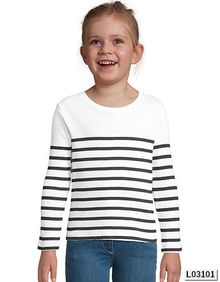 Kids' Long Sleeve Striped T-Shirt Matelot SOL´S 03101