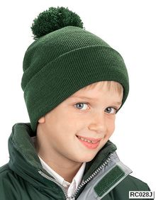 Junior Pom Pom Beanie Result Winter Essentials RC028J