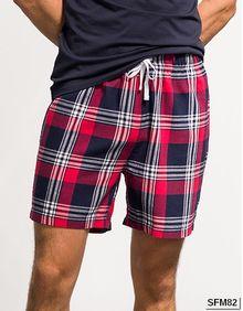 Men's Tartan Lounge Shorts SF Men SF082