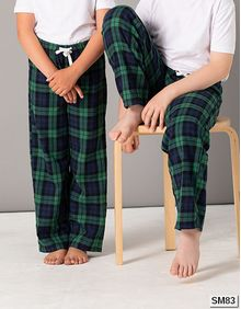 Kids Tartan Lounge Pants SF Minni SM083