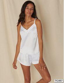 Ladies Satin Cami Short Pyjamas Towel City TC057