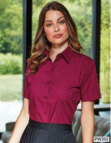 Poplin Blouse Short Sleeve (bluzka damska) Premier Workwear PR302
