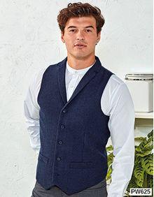 Mens Herringbone Waistcoat Premier Workwear PR625