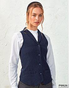 Ladies Herringbone Waistcoat Premier Workwear PR626