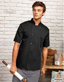 Essential Short Sleeve Chef's Jacket Premier Workwear PR656