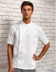 Chef´s Short Sleeve Pull on Tunic Premier Workwear PR668