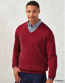 Mens V-Neck Knitted Sweater Premier Workwear PR694