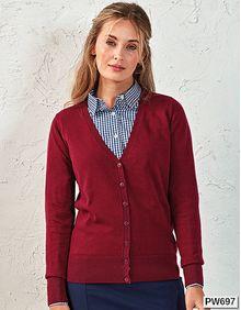 Ladies Button Through Knitted Cardigan Premier Workwear PR697