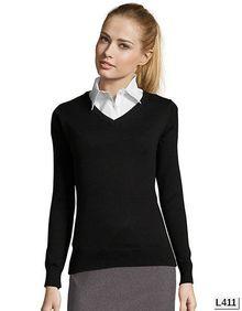 Womens V Neck Sweater Galaxy SOL´S 90010