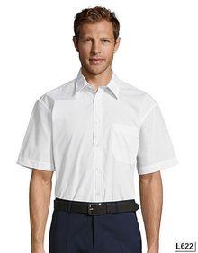 Popelina, koszula z krótkim rękawem Bristol SOL´S 16050