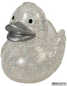 Squeaky Duck Glitter Silver mbw M31270