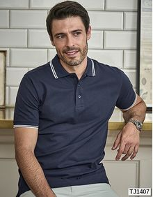 Luxury Stripe Stretch Polo Tee Jays 1407