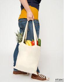 Torba bawełniana, naturalna, długie rączki, Basic Printwear