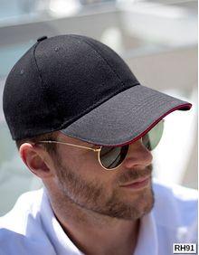 Memphis Brushed Cotton Low Profile Sandwich Peak Cap Result Headwear RC091X