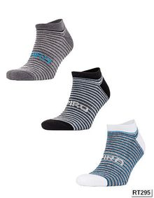 3-Pack Mixed Stripe Coolmax Sneaker Socks SPIRO S295X