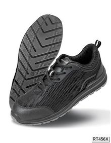 All Black Safety Trainer Result WORK-GUARD R456X