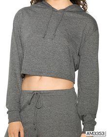 Women's Tri-Blend Cropped Hoodie American Apparel RSATR3353W