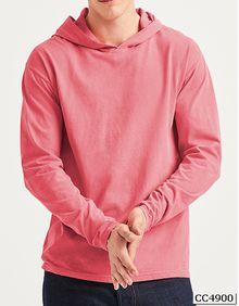 Adult Heavyweight Long Sleeve Hooded Tee Comfort Colors 4900
