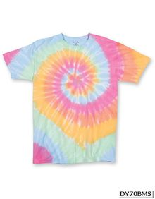 Multi-Color Spirals - Youth T-Shirt Dyenomite 70BMS