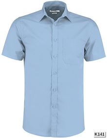Tailored Fit Poplin Shirt Short Sleeve Kustom Kit KK141