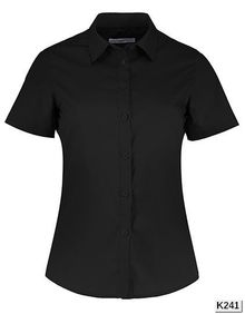 Women's Tailored Fit Poplin Shirt Short Sleeve Kustom Kit KK241