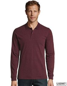 Mens Long-Sleeve Piqué Polo Shirt Perfect SOL´S 02087