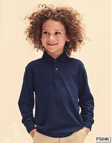 Kids Polo 65/35 Longsleeve Fruit of the Loom 63-201-0