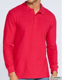 Premium Cotton® Long Sleeve Double Piqué Polo Gildan 85900