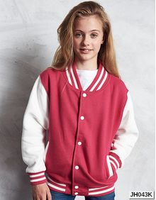 Kids Varsity Jacket Just Hoods JH043J