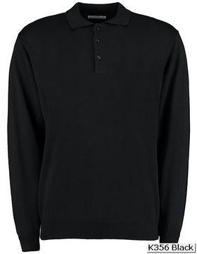 Mens Arundel Polo Shirt Long Sleeve Kustom Kit KK356